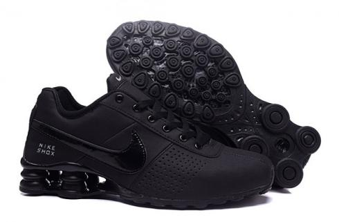 Nike Shox Deliver Men Shoes Total Black Casual Trainers Sneakers 317547