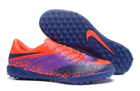 Nike Hypervenom Phantom II TF FLOODLIGHTS PACK Orange Purple Navy Blue Football Shoes