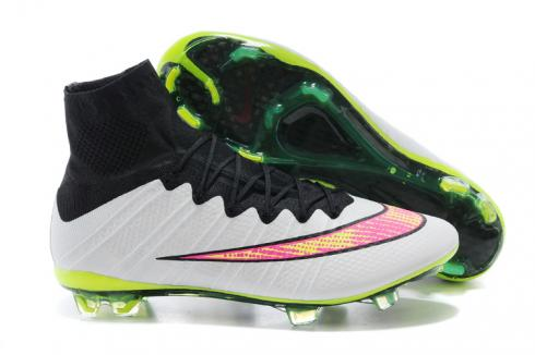 Nike Mercurial Superfly FG ACC Soccer Cleats White Black Volt Pink 641858-170