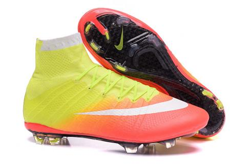 Nike Mercurial Superfly FG Firm Ground Soccers Cleats Yellow Orange 718753-818