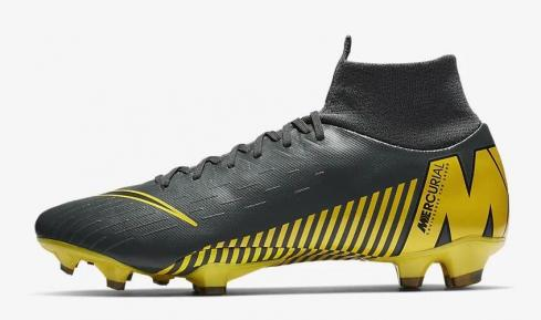 Nike Superfly 6 Pro FG Dark Grey Opti Yellow Black AH7368-070