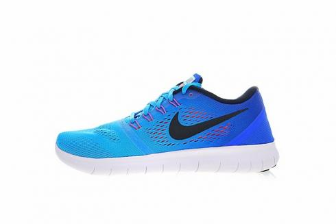 chisme político grandioso  Nike Free RN Blue Glow Black Racer Blue Bright Running Shoes 831508-404 -  Sepsport