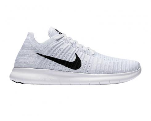Nike Free RN Flyknit 5.0 Grey Black Mens Running Shoes