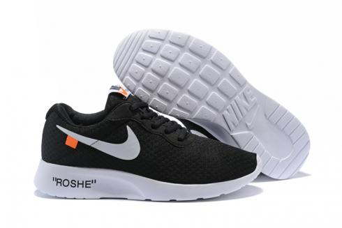 look good shoes sale get new uk store Off White Nike Tanjun Running Shoes Black Silver 812654