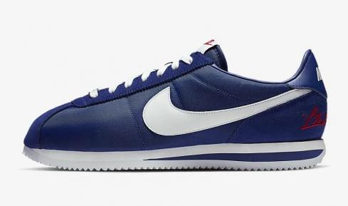 Nike Cortez Basic Deep Royal Blue Metallic Silver University Red White CI9873-400