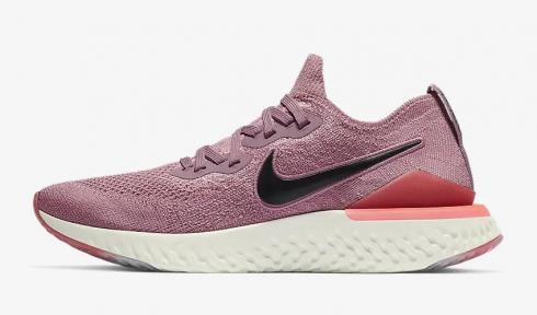 Nike Epic React Flyknit 2 Plum Dust Ember Glow Bleached Coral BQ8927-500