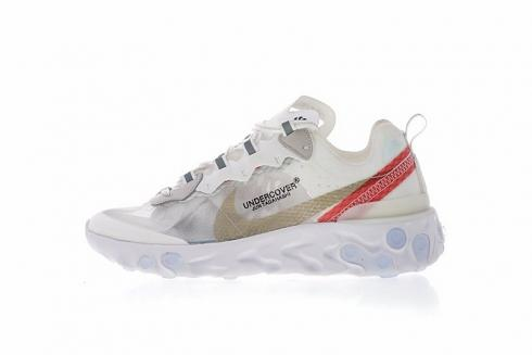 e6f243b319bc0 Nike Epic React Element 87 Undercover White Wolf Grey Blue AQ1813 ...