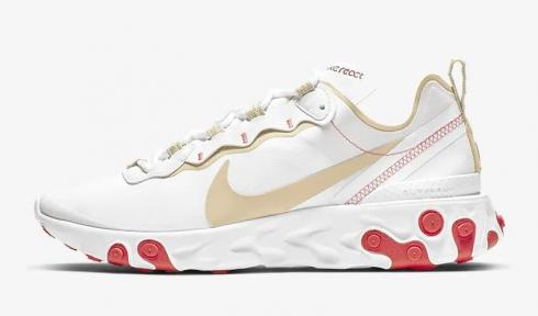Nike React Element 55 White Ember Glow Desert Ore BQ2728-101