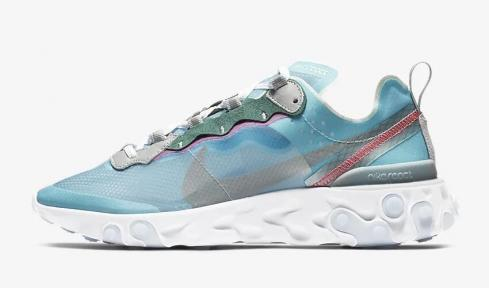 Nike React Element 87 Royal Tint Wolf Grey Solar Red Black AQ1090-400