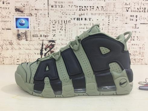 Nike Air More Uptempo Army Green Black