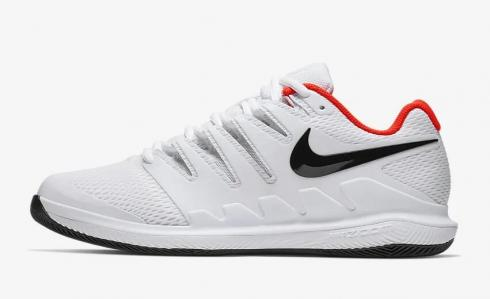 NikeCourt Air Zoom Vapor X White Bright Crimson Black AA8030-106