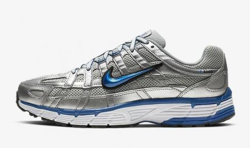 Nike P 6000 Metallic Silver White Black Team Royal BV1021-001