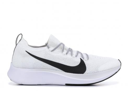 Nike Zoom Fly Flyknit Womens Running Shoes White Black AR4562-101