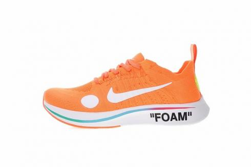 Nike Zoom Fly Mercurial Fk Ow Off White Orange Volt White Total AO2115 800