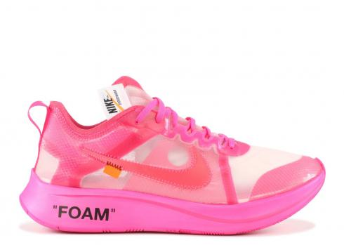Off White x Nike Zoom Fly SP Pink AJ4588-600