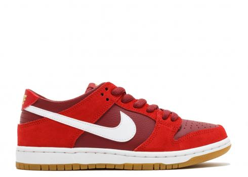 Nike SB Zoom Dunk Low Pro Red White Cedar Skateboarding 854866-616  Pick Size