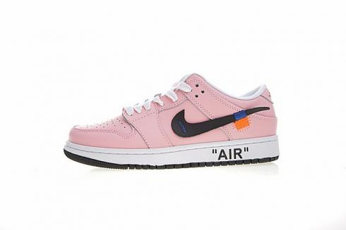 best website 76296 09edb Off White X Nike SB Dunk Low Pro Sb Pink White Black 332558-168