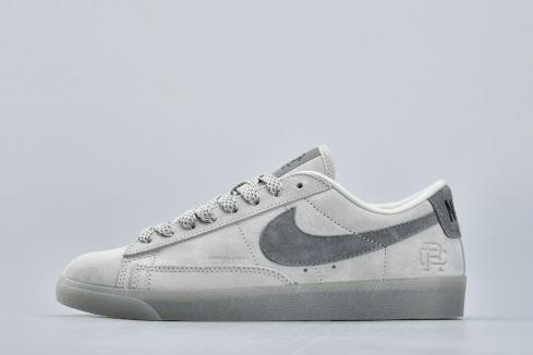 Nike Blazer Low x Reigning Champ 2.0 Grey Suede Unisex Shoes ...
