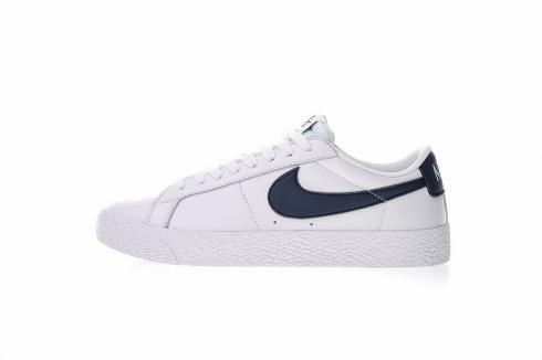 check out entire collection fresh styles Nike SB Blazer Zoom Low Leather Summit White Obsidian 864347-141