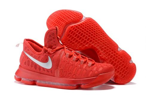 b1b06874b3e24 Prev Nike KD 9 Kevin Durant Men Basketball Shoes All Red Silver 843392. Zoom
