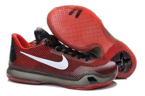huge discount ff4e8 d94aa Prev Nike Kobe 10 X EP Low Black Red White Men Basketball Shoes 745334