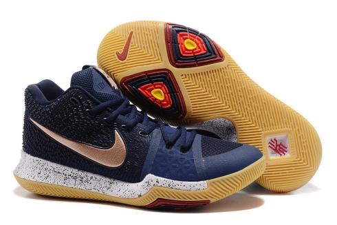 Nike Kyrie 3 III men basketball shoes NEW obsidian gold 852395 400