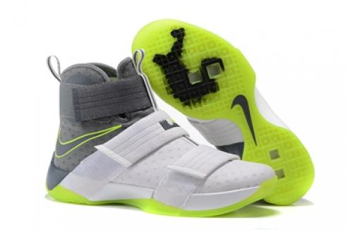 quality design f3f94 c2b48 Prev Nike Lebron Soldier 10 EP X Men White Grey Green Basketball Shoes Men  844378-103