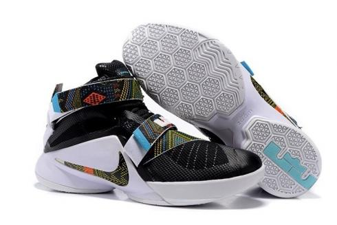 hot sale online a8c98 66acd Nike Zoom Soldier 9 IX Black Lebron Basketball Shoes Black Month 749417-002