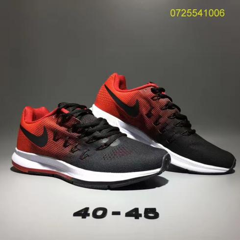 Nike Air Zoom Pegasus 33 Men Running Shoes Black Red