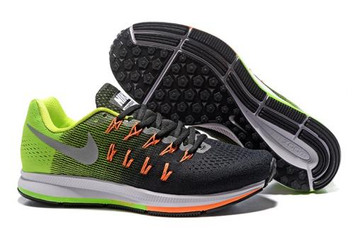 competitive price b309e fa031 Prev Nike Air Zoom Pegasus 33 Men Running Shoes Green Black Silver  831352-006