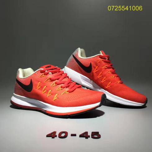 Nike Air Zoom Pegasus 33 Men Running Shoes Red Black White