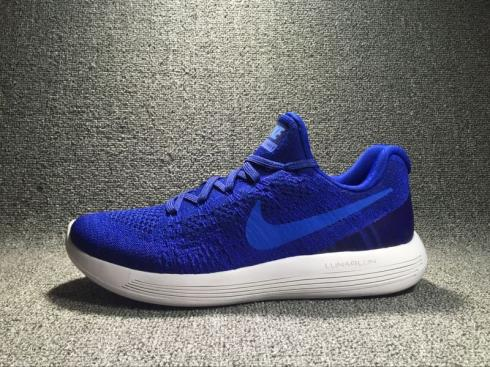 Nike Lunarepic Low Flyknit 2.0 Blue White Running Shoes 863779 400