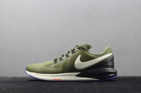 Nike Air Zoom Structure 22 Olive Green White AA1636 300