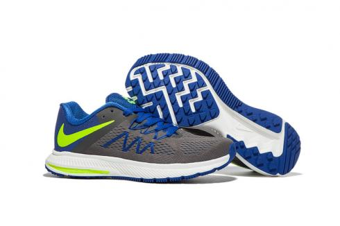 nike zoom winflo 3 blue running shoes