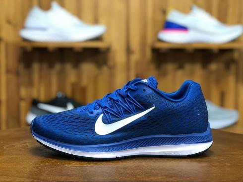 Nike Zoom Winflo 5 Blue White Mens Running Shoes AA7406-400