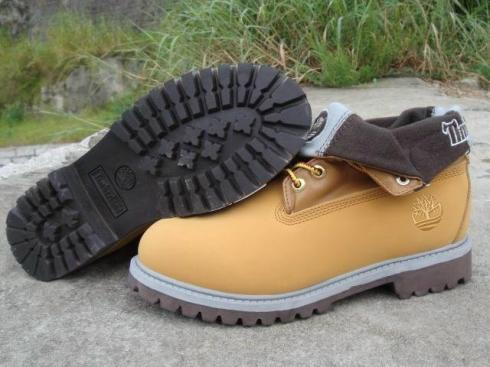 Timberland Women Roll top Boots Wheat Brown