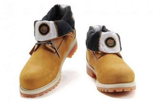 Womens Timberland Roll top Boots Brown Wheat