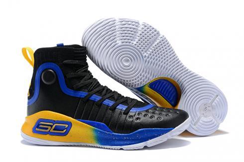 detailed look 2cde9 d492e Under Armour UA Curry 4 IV High Men Basketball Shoes Royal Blue Yellow  Black Hot New