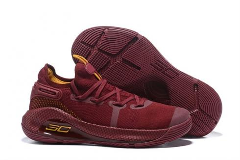 Under Armour Curry 6 Wine Red Yellow