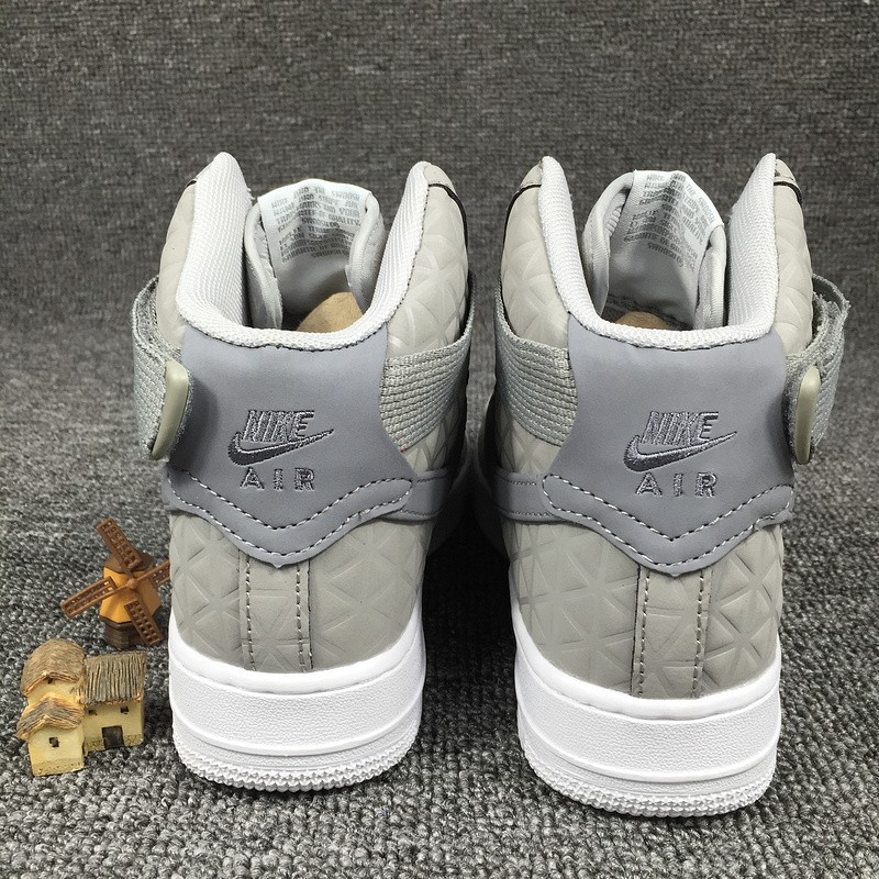 save off e4363 dc804 Nike Air Force 1 Hi Premium Suede Womens Shoes Matte Silver Cool Grey  845065-001