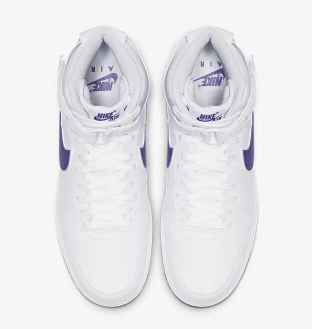 Nike Air Force 1 High 07 3 White Court Purple White AT4141 103