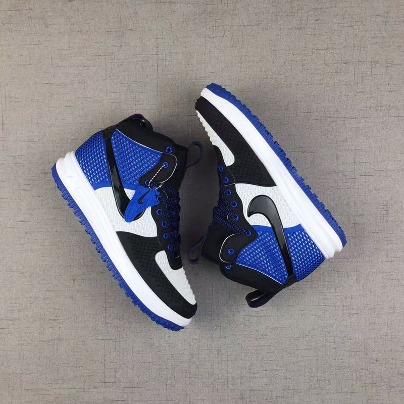 Nike Air Force 1 High Kpu Black White Blue Men Shoes Sepsport
