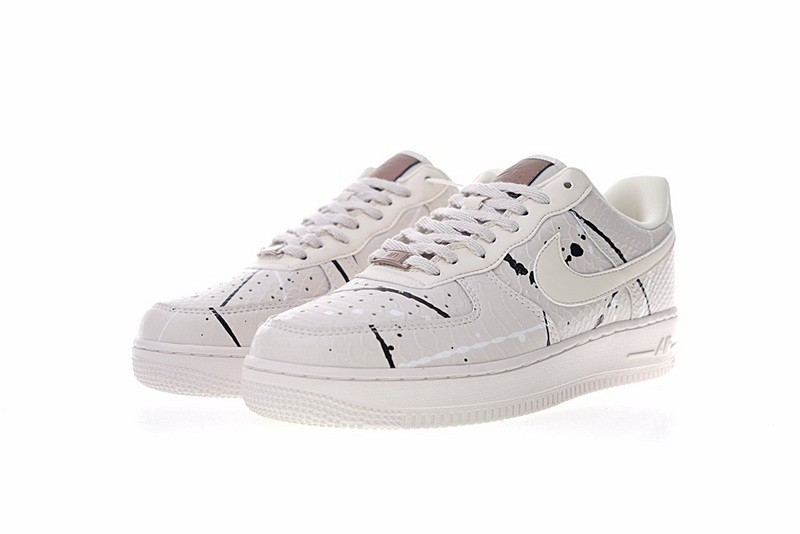 Nike Air Force 1 07 Lux Phantom Snakeskin White Casual Shoes 898889 007