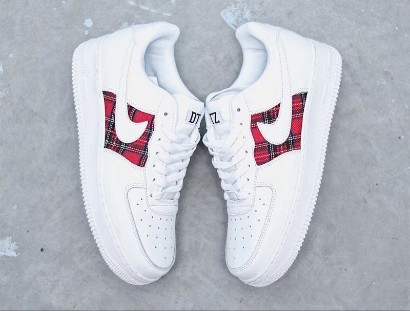 Nike Air Force 1 Low 07 Flannel White Red AH596728 035