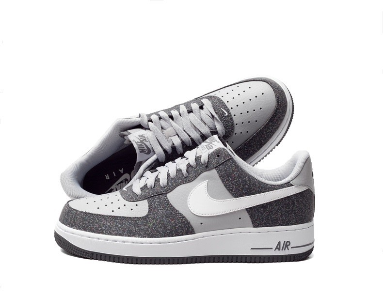 37dbe0b5546 Nike Air Force 1 Low 07 Trainers Casual Shoes Dark Grey White Wolf ...