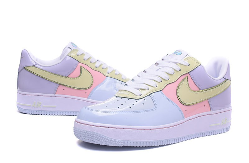 Nike Air Force 1 Low Easter Pack Blue Lime Pink Yellow 845053 500