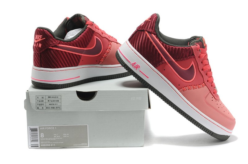 Nike Air Force 1 Low Fusion Noble Atomic Red 488298 611
