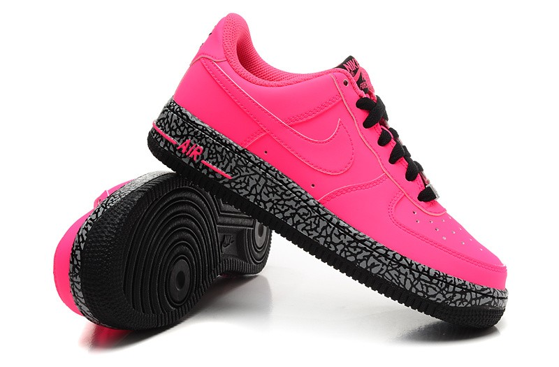 Nike Air Force 1 Low GS Hyper Punch Hyper Pink Black 596728 608