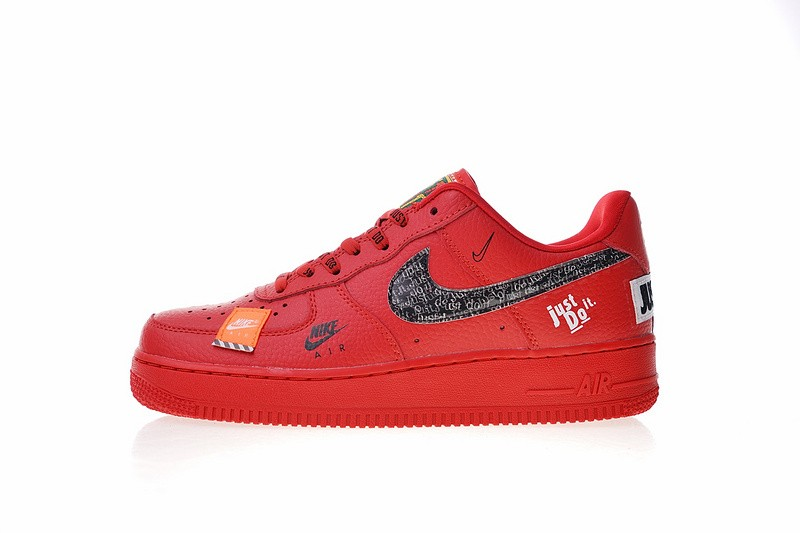 004ee9f2f505 Nike Air Force 1 Low Just Do It University Red Black Total Orange ...
