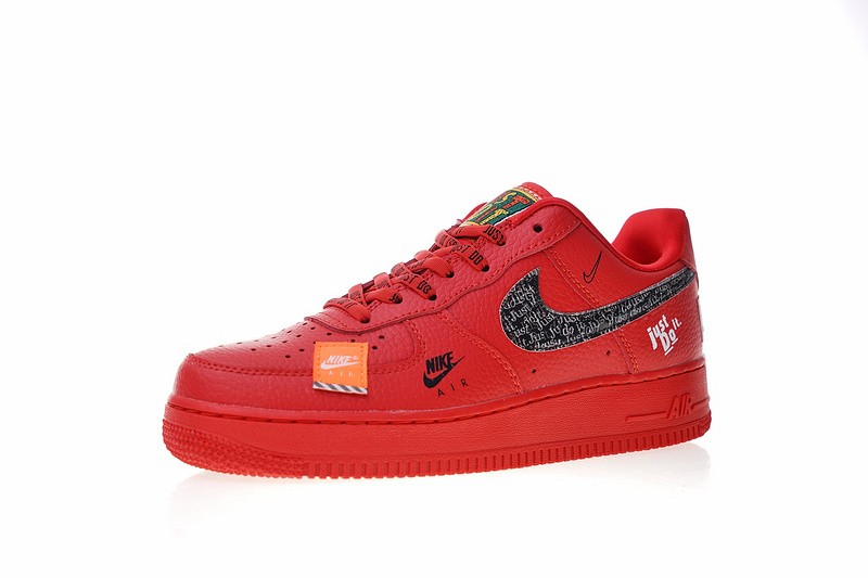 Nike Air Force 1 Low Just Do It University Red Black Total Orange AR7719 106